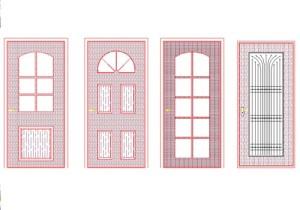 Beautiful Door cad block free download