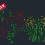 Planter flower cad blocks free download