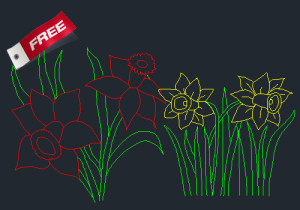 Flowers Cad Block free download