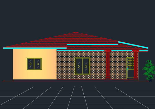 pics for autocad house plan dwg