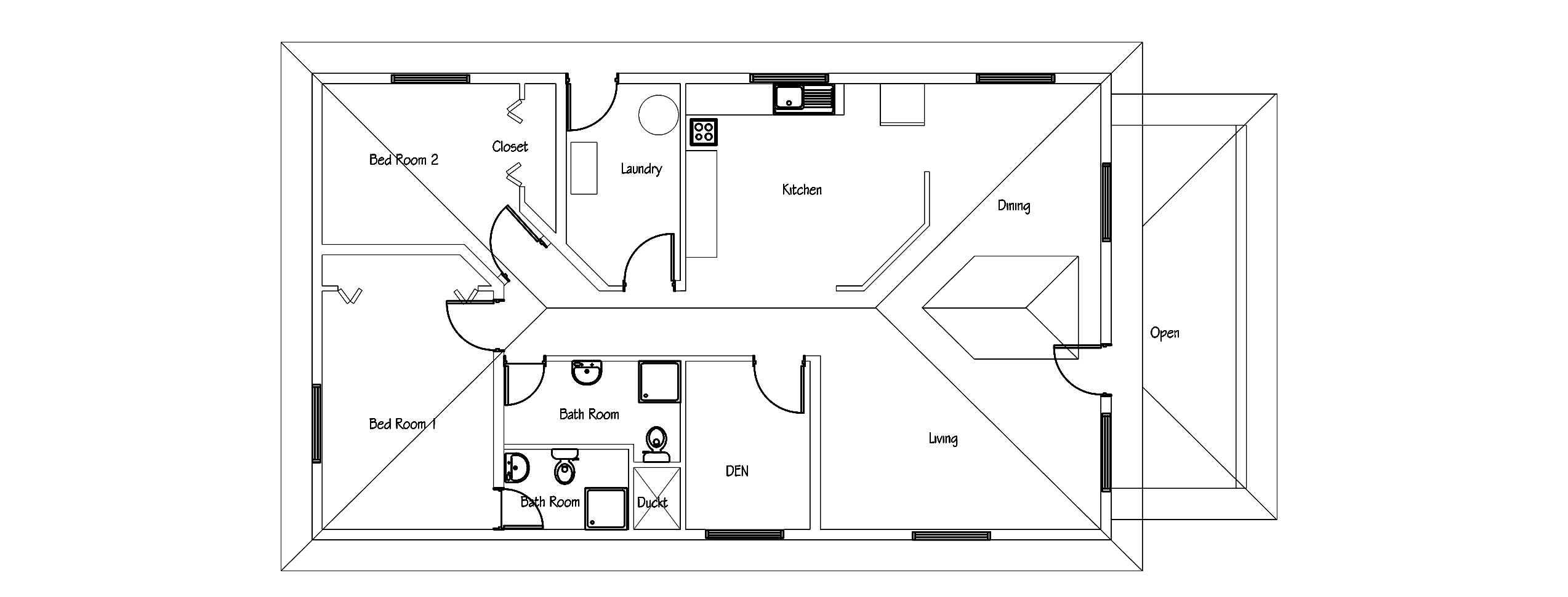 Small house plan free download with pdf and cad file for House plan cad file