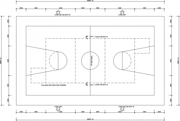 Basket Ball CAD drawing free download form dwg net 01