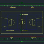 Basket Ball Court CAD Block