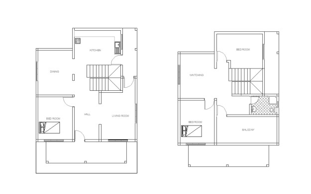 Double Story house plan