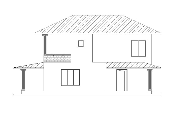 Double Story house plan 1001 02