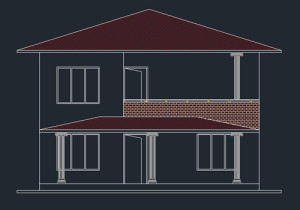 Double Story house plan 1001