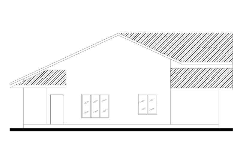 Front Elevation Plan Dwg : Four bed room house plan dwg net cad blocks and