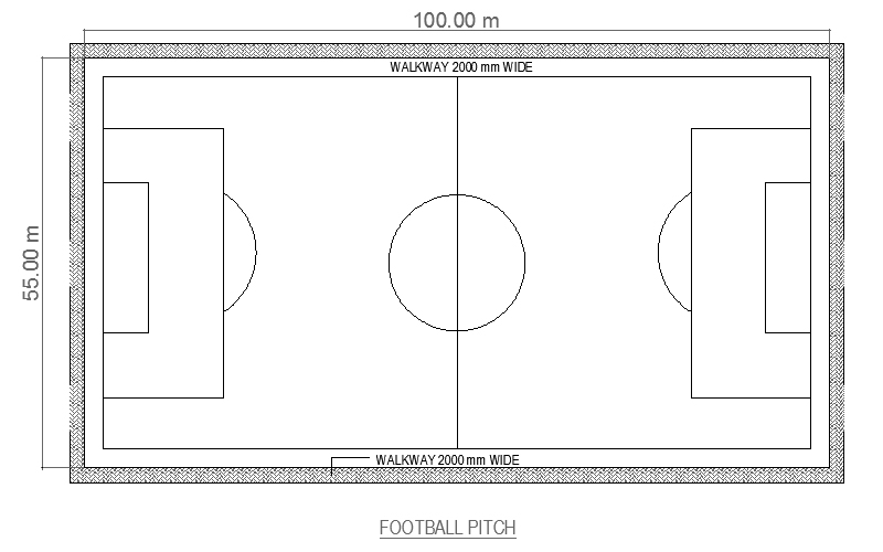 Football Court CAD Drawing