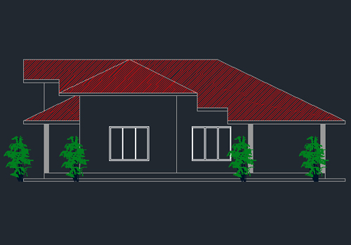Double Story Small House Plan