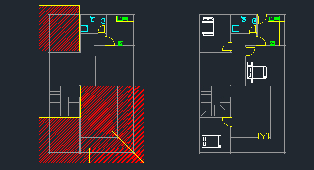 Double story house plan with dwg cad file for House plan cad file