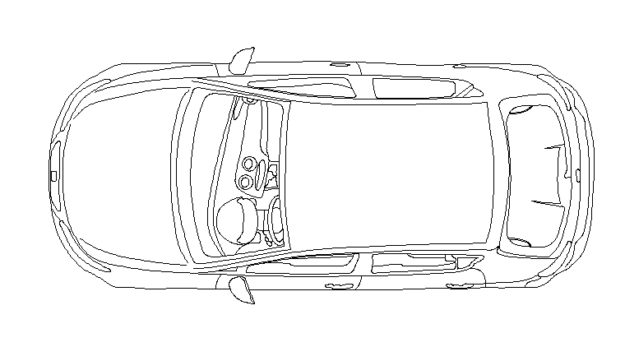 car cad block top side