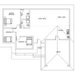 Three bed room floor plan