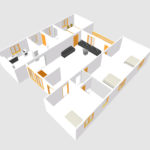 European type four bed room house plans – 104