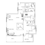 Single story three bed room house plan – 110