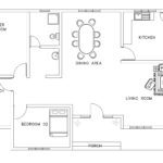 Asian and African style small house plan