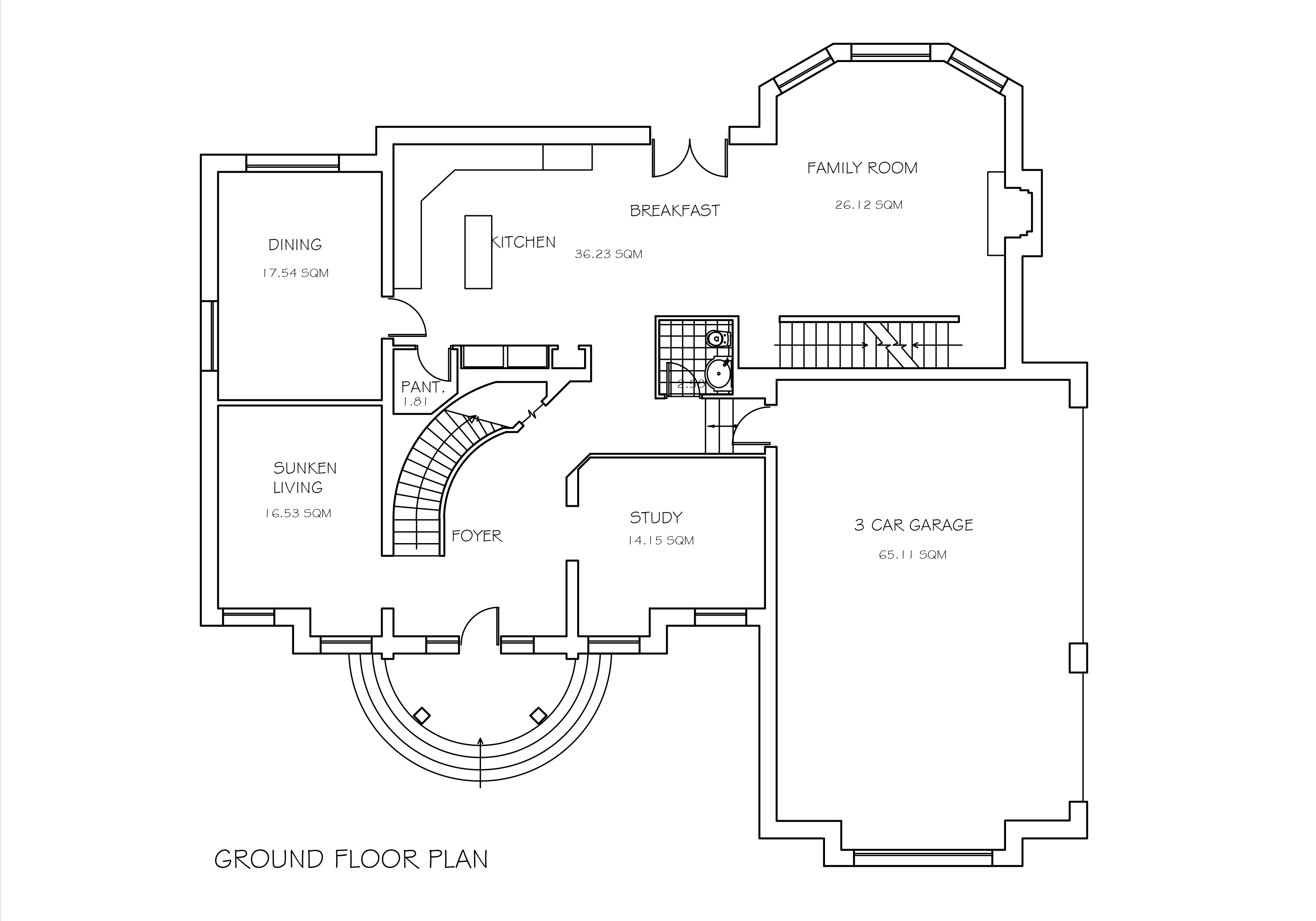 Double story four bedroom house plan dwg cad file download for House plan cad file