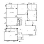 Four bedroom double story house plan for middle east country