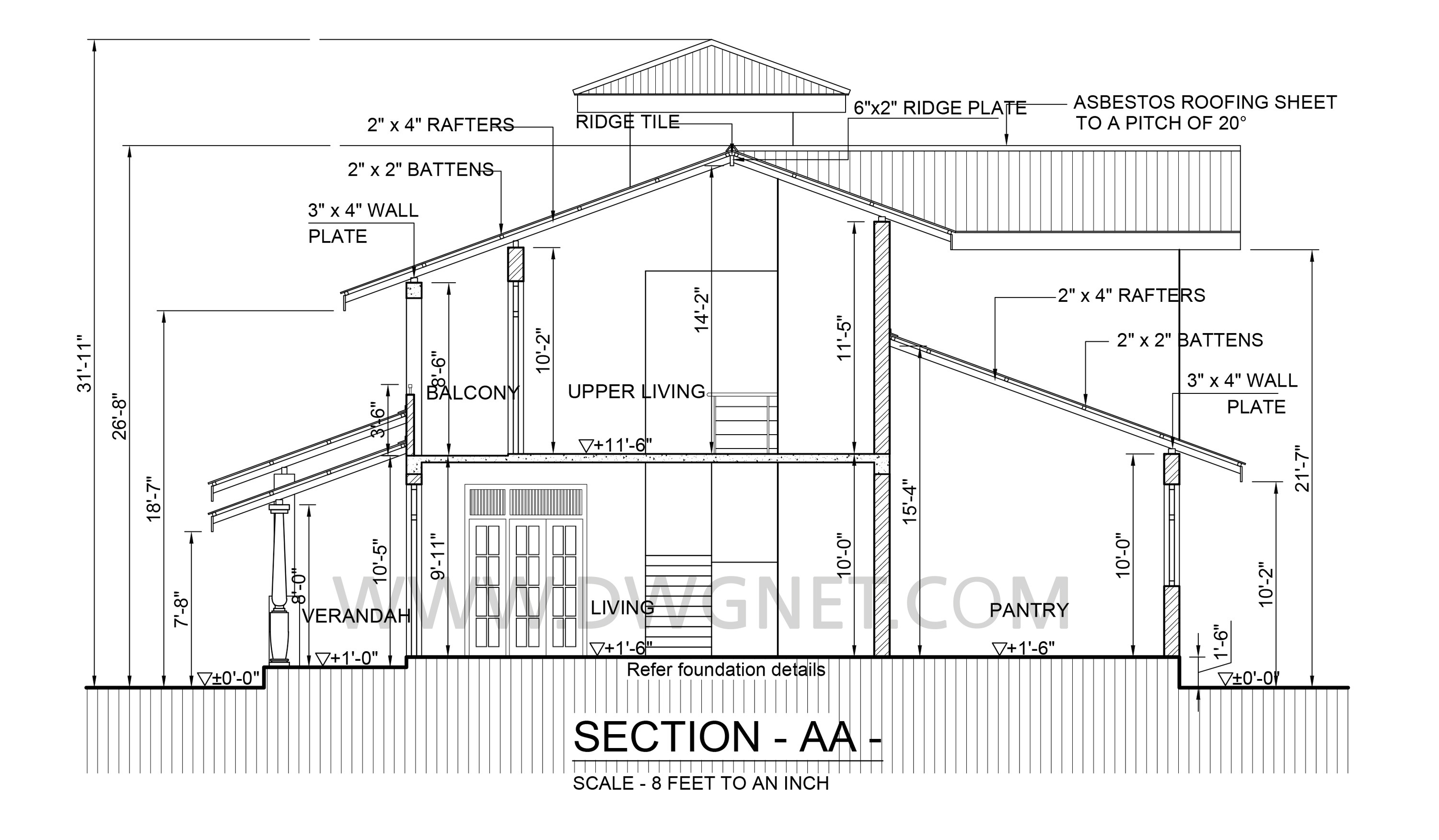 Premium quality four bedroom double story house plan for House foundation plan