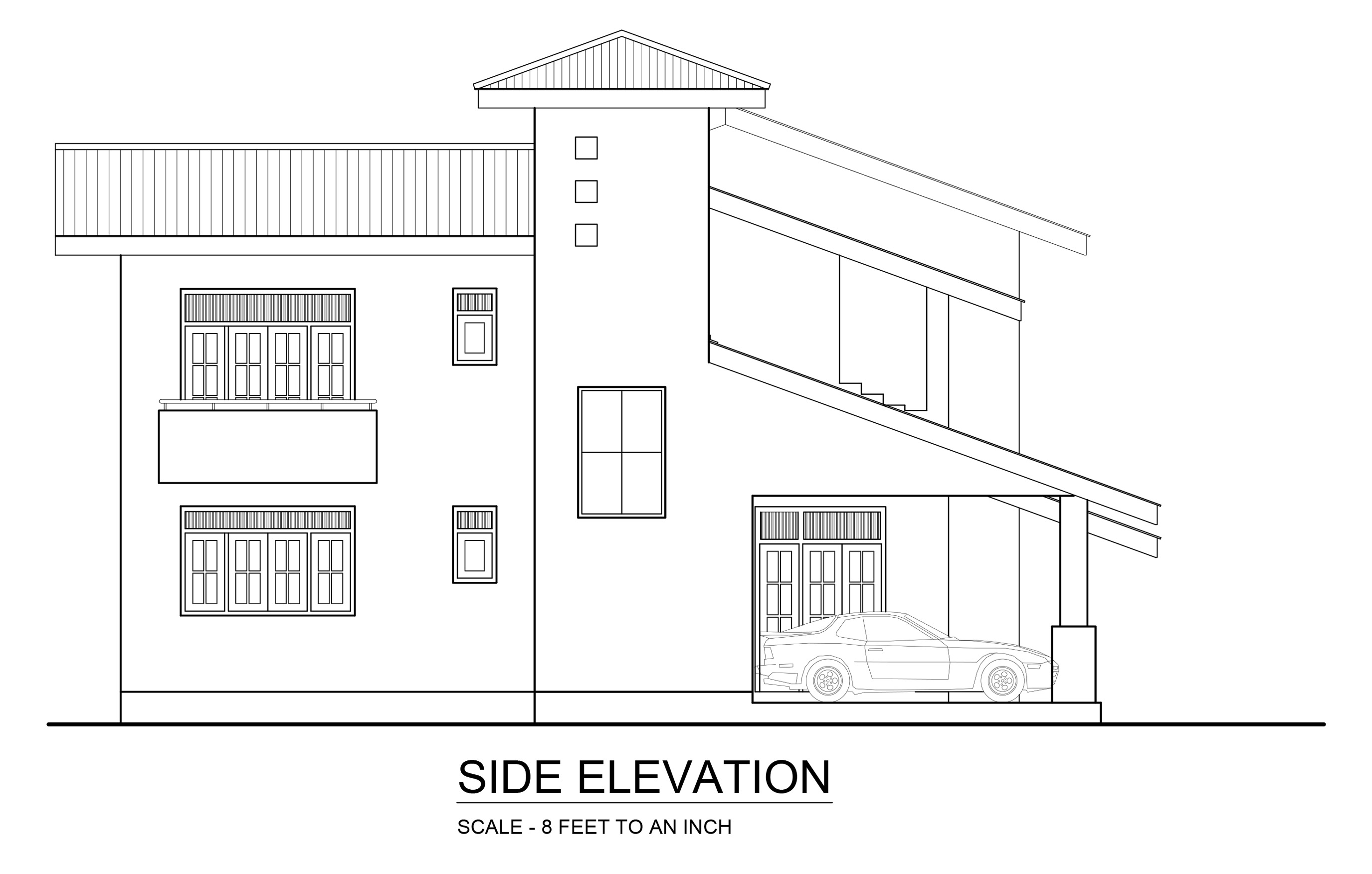 Elevation Plan Requirements : Premium quality four bedroom double story house plan