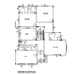 Three bed room middle east type house plan