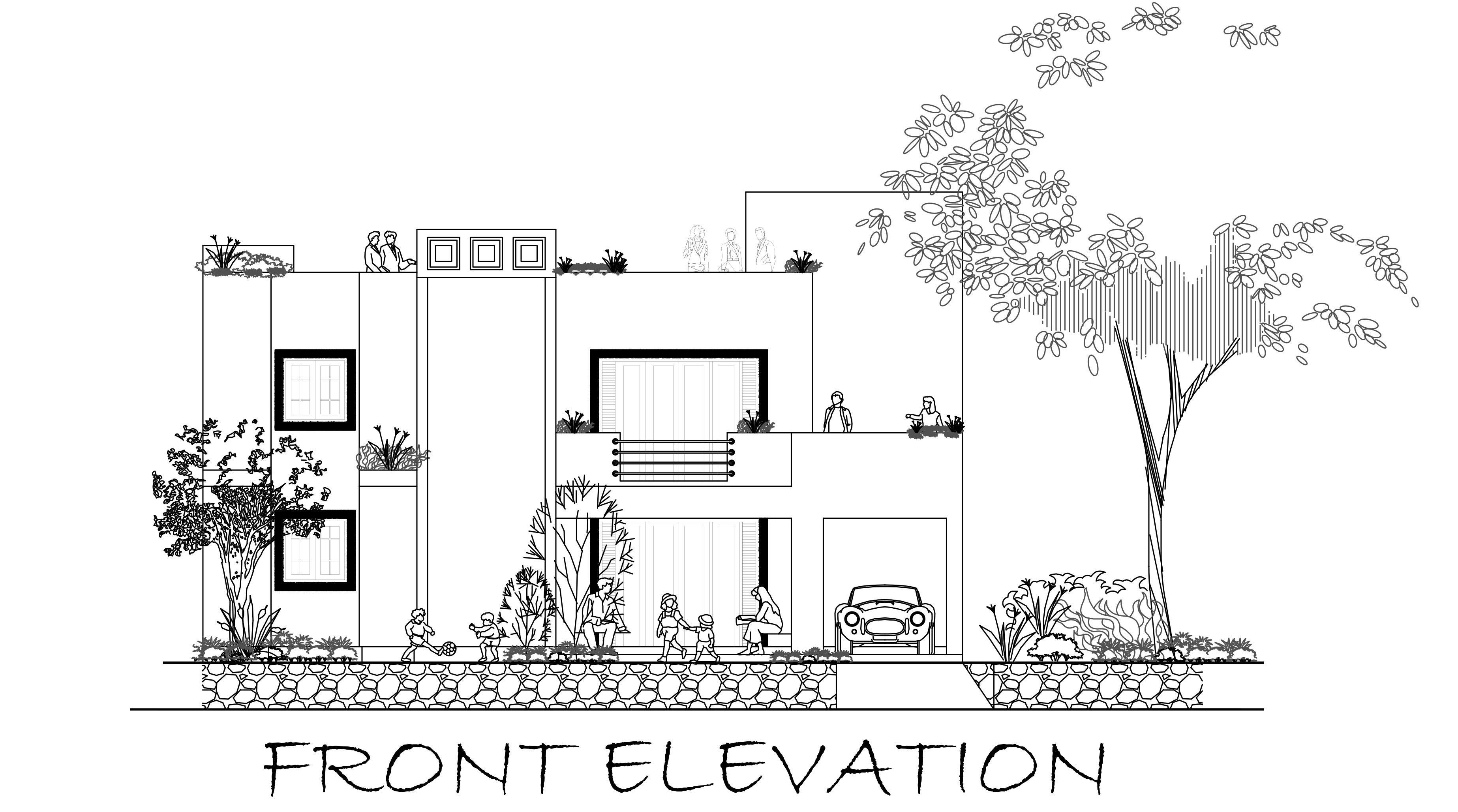 Front Elevation Without Balcony : Front elevation balcony coloring pages