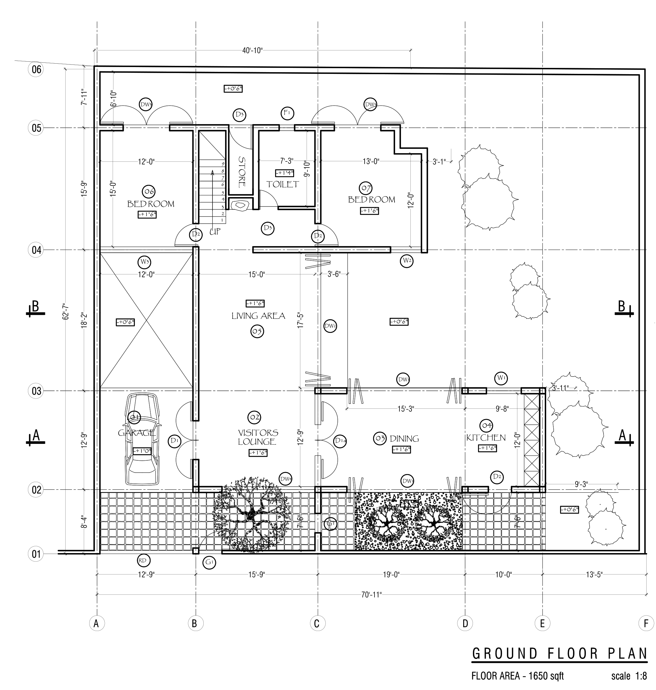 Five bedroom double story beautiful house plan ground floor ...